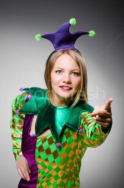 Engraçado palhaço colorido traje sorrir aniversário Foto stock © Elnur