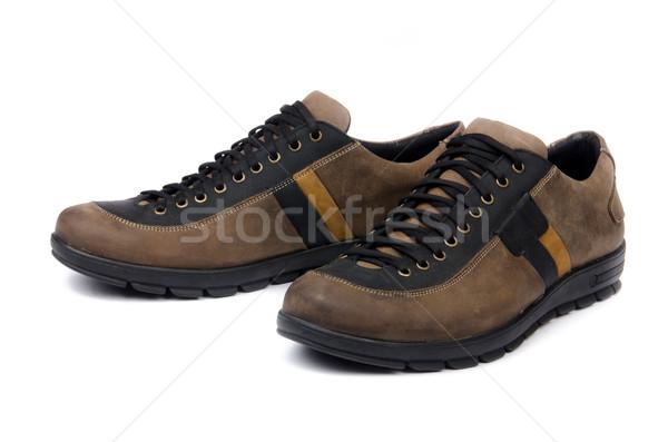 мужчины обувь изолированный белый моде спорт Сток-фото © Elnur