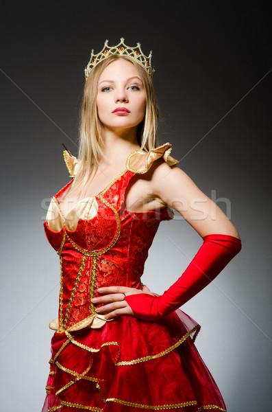 Koningin Rood kostuum donkere werk pak Stockfoto © Elnur