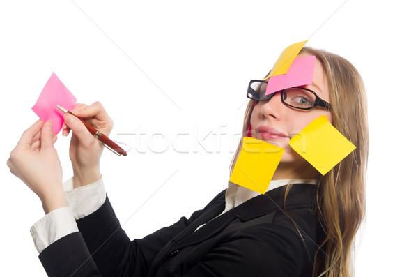 женщину изолированный белый бизнеса улыбка лице Сток-фото © Elnur
