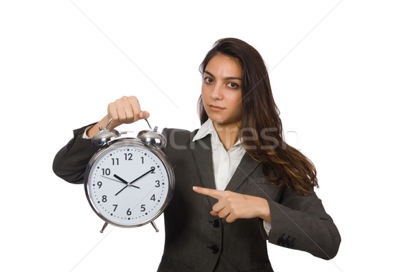 Zakenvrouw klok vermist deadlines vrouw zakenman Stockfoto © Elnur