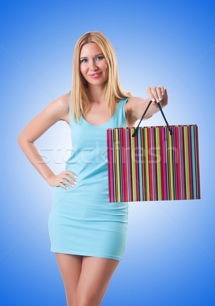 Wysoki dziewczyna dobre zakupy biały twarz Zdjęcia stock © Elnur