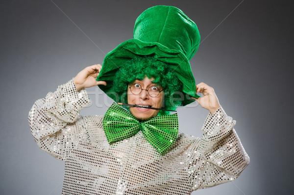 Komik kişi aziz tatil mutlu üzücü Stok fotoğraf © Elnur