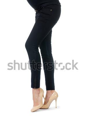 Kadın bacaklar yalıtılmış beyaz moda ayak Stok fotoğraf © Elnur