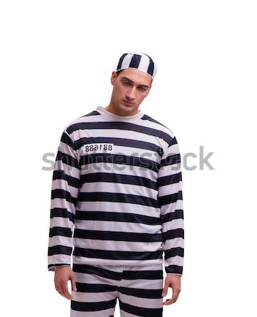 Divertente prigioniero carcere uomo legge palla Foto d'archivio © Elnur