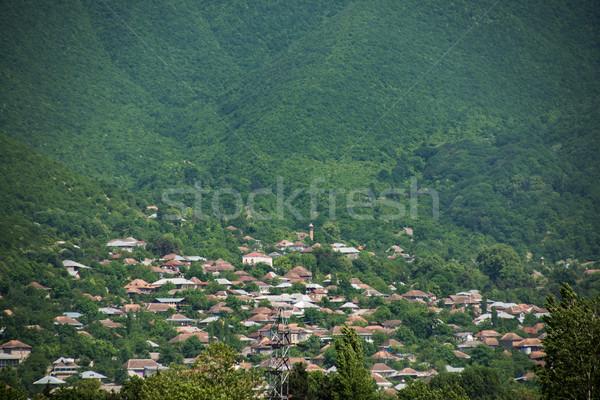 Miasta Azerbejdżan hotel góry architektury parku Zdjęcia stock © Elnur