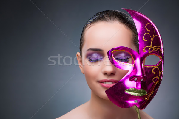 Mulher jovem carnaval máscara cara moda teatro Foto stock © Elnur
