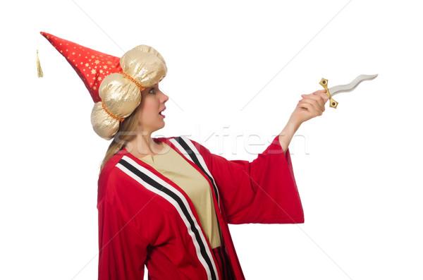 женщину красный одежду изолированный белый девушки Сток-фото © Elnur