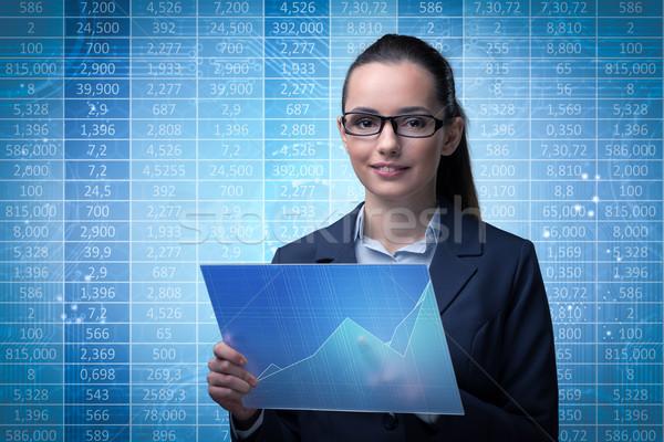 üzletasszony tőzsde kereskedés nő pénz internet Stock fotó © Elnur