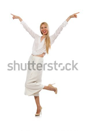 Blond haren model elegante pants geïsoleerd Stockfoto © Elnur