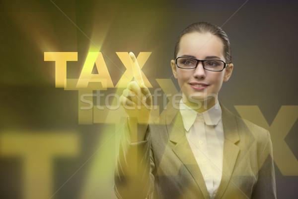 Imprenditrice business fiscali internet tempo finanziare Foto d'archivio © Elnur