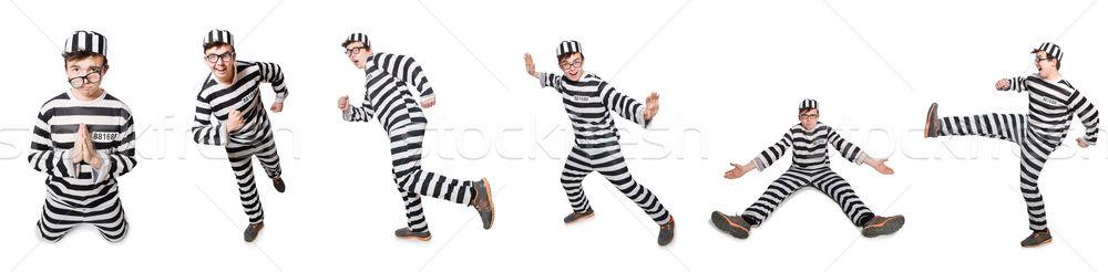 Komik hapis tutuklu adam arka plan hukuk Stok fotoğraf © Elnur