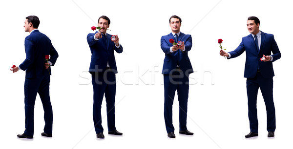 Romantic concept with man making marriage proposal Stock photo © Elnur