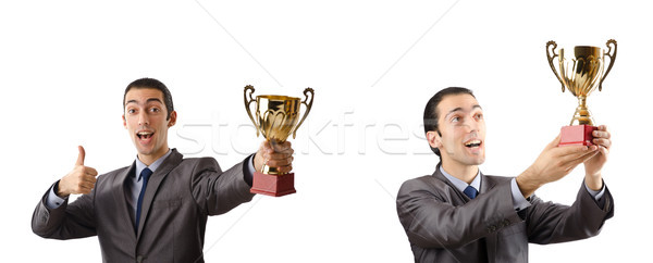 The collage of businessman receiving award Stock photo © Elnur