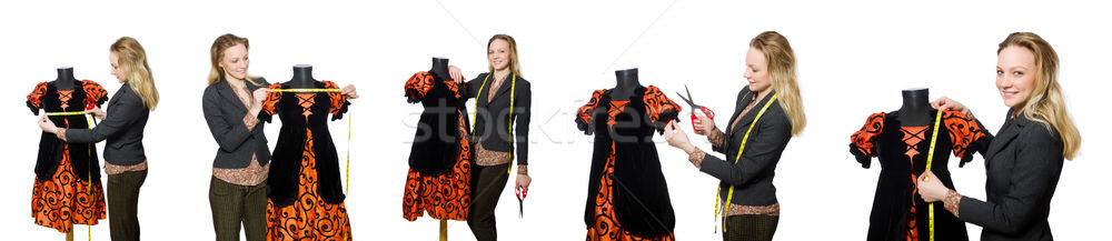 The woman tailor isolated on white Stock photo © Elnur