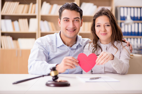 Jonge familie huwelijk echtscheiding liefde bruid Stockfoto © Elnur