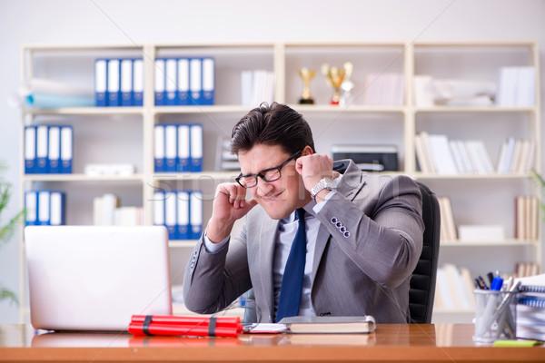 сердиться агрессивный бизнесмен служба бизнеса работу Сток-фото © Elnur