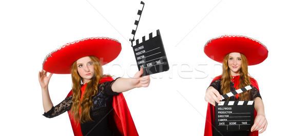 Stok fotoğraf: Komik · Meksika · film · tahta · parti · sinema