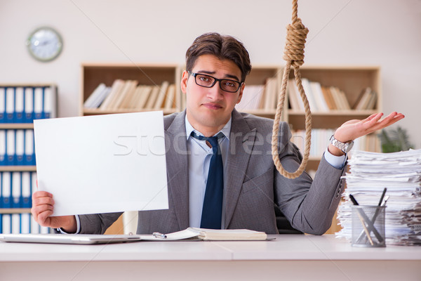 Affaires suicide suspendu ordinateur espace Photo stock © Elnur