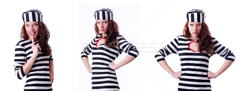 The convict criminal in striped uniform Stock photo © Elnur
