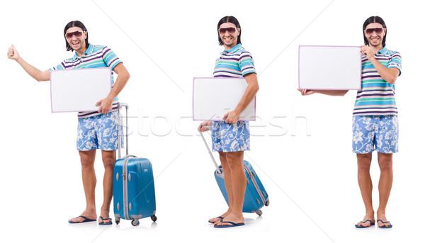 Turismo isolato bianco uomo bag Foto d'archivio © Elnur