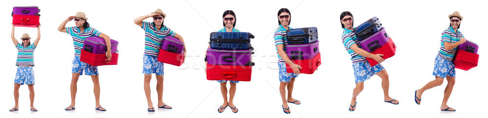 The man preparing for this summer vacation Stock photo © Elnur