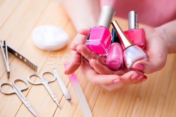 Szépségipari termékek szög törődés szerszámok pedikűr közelkép Stock fotó © Elnur