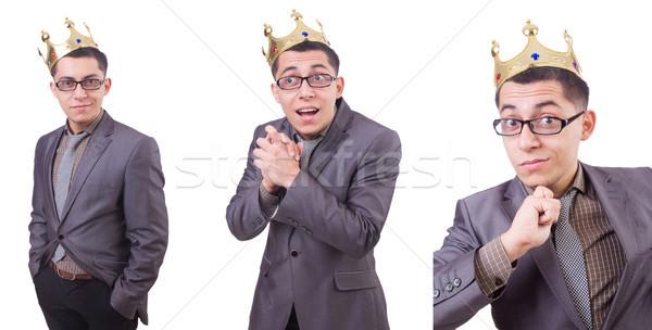 王 ビジネスマン 孤立した 白 男 楽しい ストックフォト © Elnur