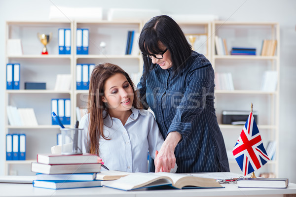 Stock fotó: Fiatal · külföldi · diák · angol · nyelv · lecke