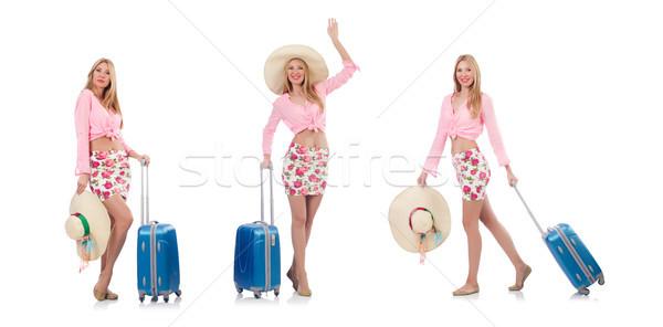 Zdjęcia stock: Kobieta · podróży · plaży · dziewczyna · lotniska