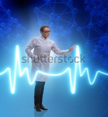 Lekarza kardiolog kardiogram serca line miłości Zdjęcia stock © Elnur