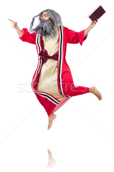 Old wizard isolated on the white background Stock photo © Elnur