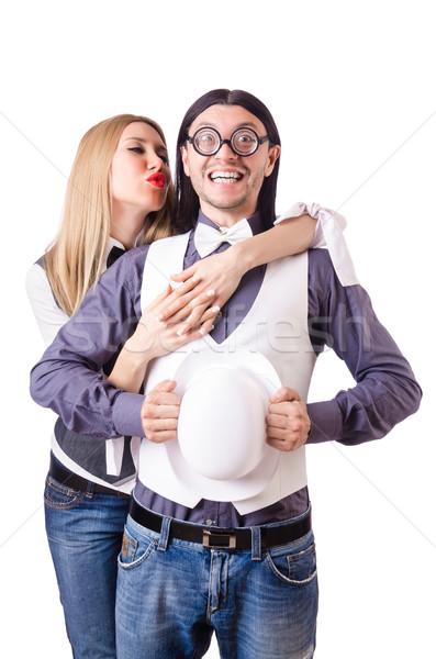 пару смешные любви женщину семьи девушки Сток-фото © Elnur