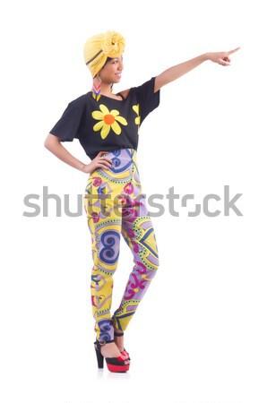 Japans vrouw geïsoleerd witte dans mode Stockfoto © Elnur