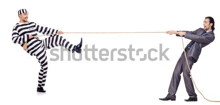 Striped leggings isolated on the white Stock photo © Elnur