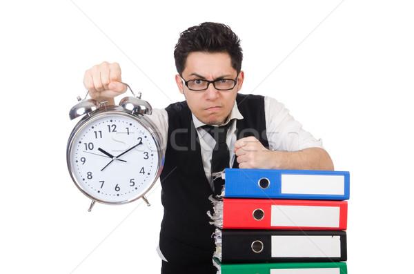 Stockfoto: Man · voldoen · deadlines · werk · zakenman · tijd