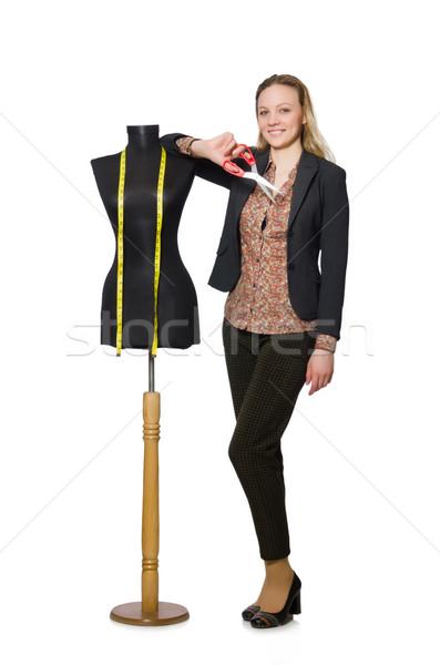 Kobieta krawiec odizolowany biały moda pracy Zdjęcia stock © Elnur