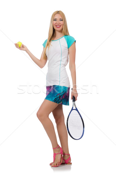 Teniszező izolált fehér háttér nyár zöld Stock fotó © Elnur