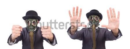 Funny criminal arma aislado blanco hombre Foto stock © Elnur