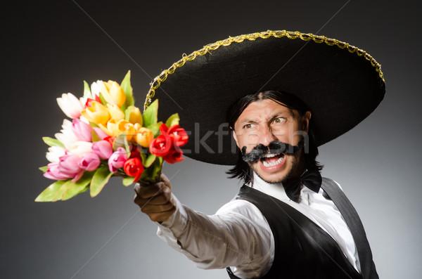 Mexicano homem sombrero isolado branco fundo Foto stock © Elnur