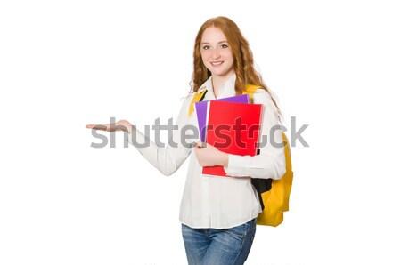 Jonge student geïsoleerd witte vrouw meisje Stockfoto © Elnur