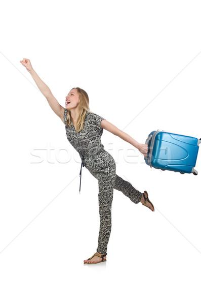 Vrouw laat vlucht meisje lopen luchthaven Stockfoto © Elnur