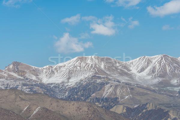 Zimą góry region Azerbejdżan krajobraz śniegu Zdjęcia stock © Elnur