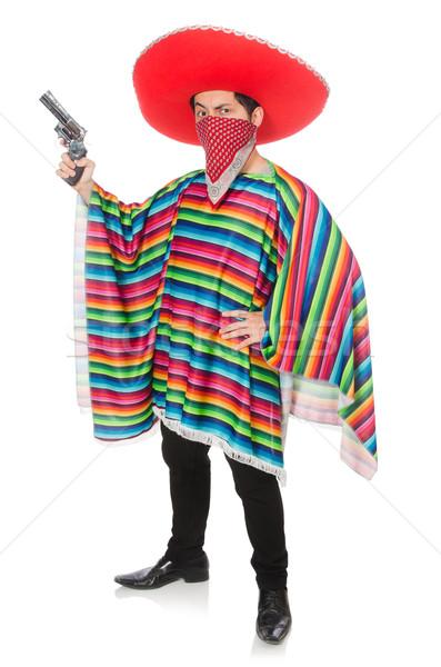 Grappig Mexicaanse wapen geïsoleerd witte partij Stockfoto © Elnur