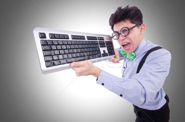 компьютер geek NERD смешные бизнеса работу Сток-фото © Elnur