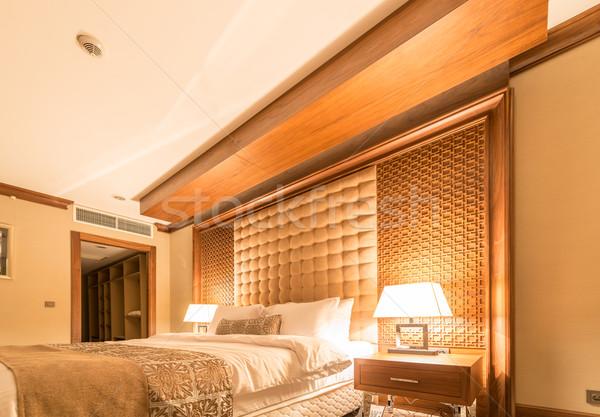 Hotel room with modern interior Stock photo © Elnur