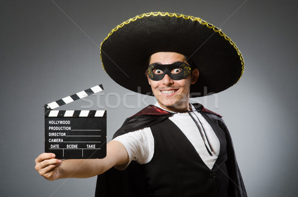 Person wearing sombrero hat in funny concept Stock photo © Elnur