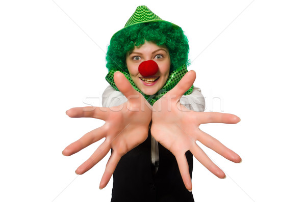 Funny person in saint patrick holiday concept Stock photo © Elnur
