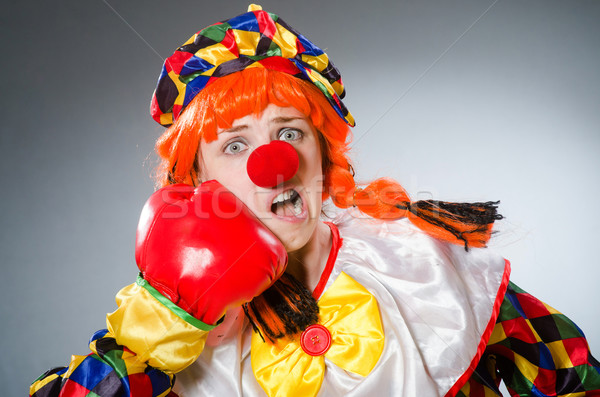 смешные клоуна смешной окна печально весело Сток-фото © Elnur