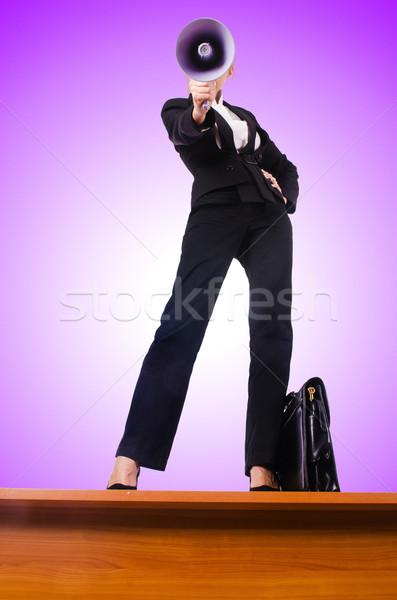 Mujer de negocios altavoz negocios mujer trabajo Foto stock © Elnur